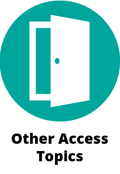 circular green icon symbol showing a partially open door