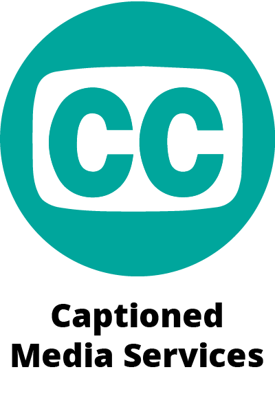 circular green icon symbol showing CC