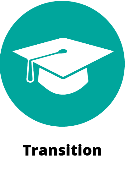 circular green icon symbol showing a graduation cap