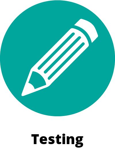 circular green icon symbol showing a pencil