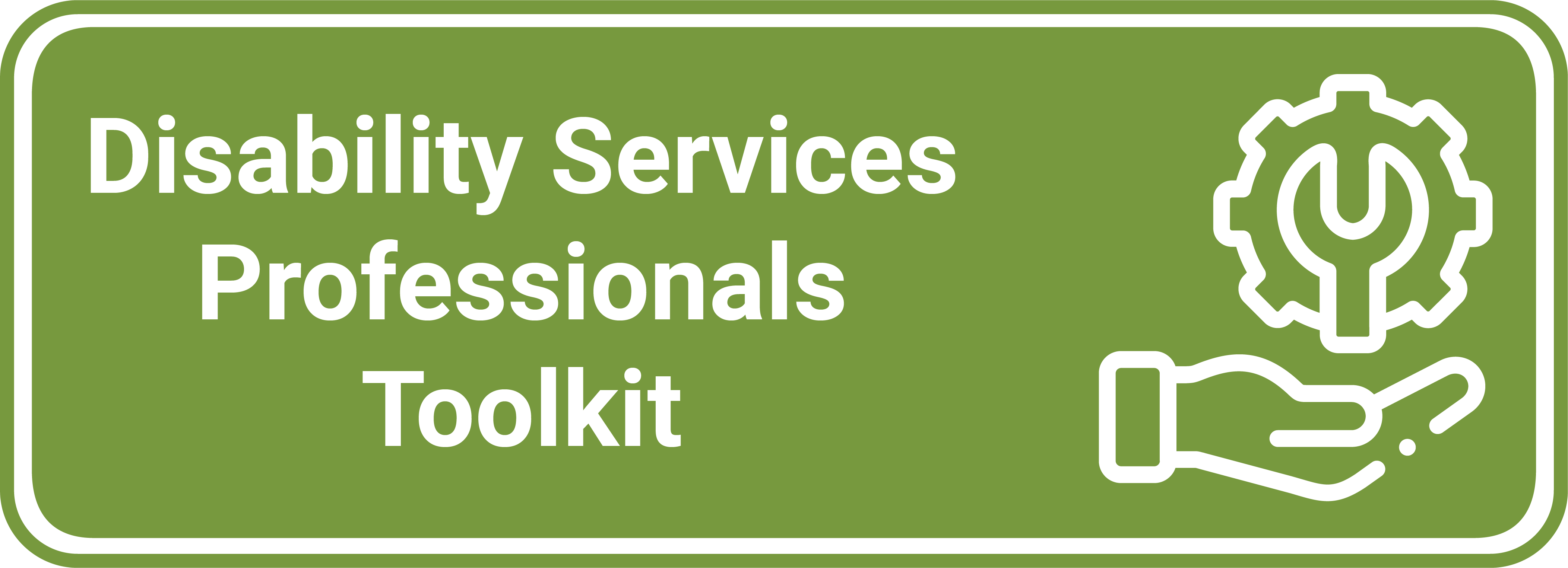 Disability Services Professionals Toolkit