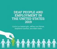 Cover image for the pdf report: Deaf People and Employment in the United States: 2019