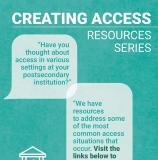 Cover image of the report titled Creating Access